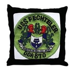 USS FECHTELER Throw Pillow