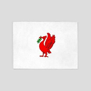 Liverpool Liverbird 5'x7'Area Rug