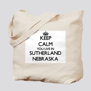 Keep calm you live in Sutherland Nebraska Tote Bag