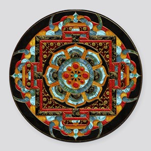 Harvest Moons India Medallion Round Car Magnet