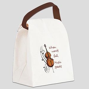 WHEN WORDS FAIL Canvas Lunch Bag