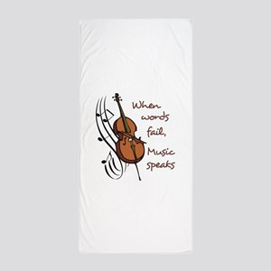 WHEN WORDS FAIL Beach Towel