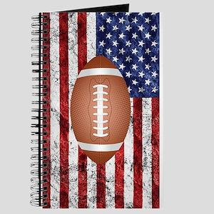American football ball on flag Journal