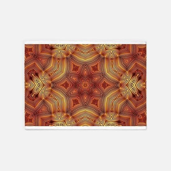 Wicker Mandala Pattern 5'x7'Area Rug