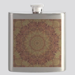 Wicker Mandala Pattern Flask