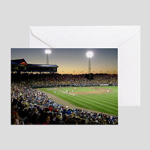 Rosenblatt Stadium Sunset Greeting Card