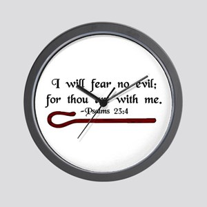"""I Fear No Evil"" Wall Clock"