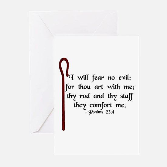 """I Fear No Evil"" Greeting Cards (Pk of 20)"