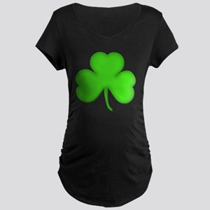 St Patricks Day Irish Shamr Maternity Dark T-Shirt