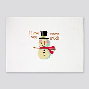 LOVE YOU SNOW MUCH 5'x7'Area Rug