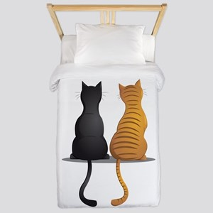 cat buddies Twin Duvet