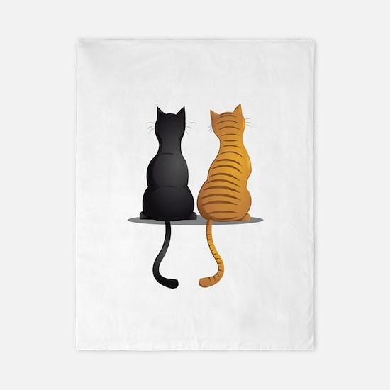 cat buddies Twin Duvet