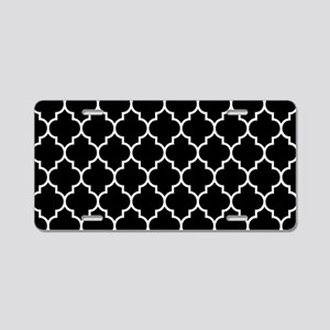 BLACK AND WHITE Moroccan Quatrefoil Aluminum Licen
