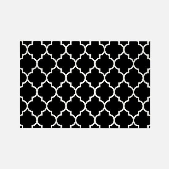 BLACK AND WHITE Moroccan Quatrefoil Magnets