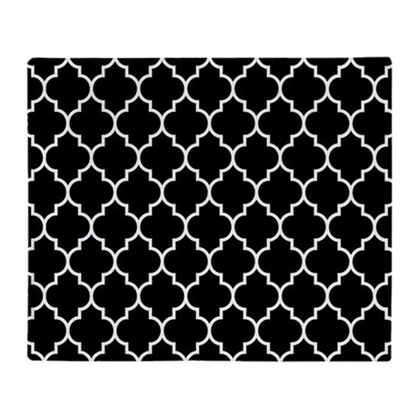 black and white moroccan quatrefoil throw blanket by beautifulbed. Black Bedroom Furniture Sets. Home Design Ideas
