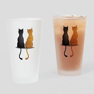 cat buddies Drinking Glass