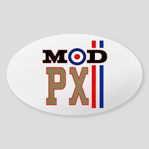 Mod Scooter Px Sticker (oval)