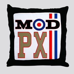 Mod Scooter Px Throw Pillow