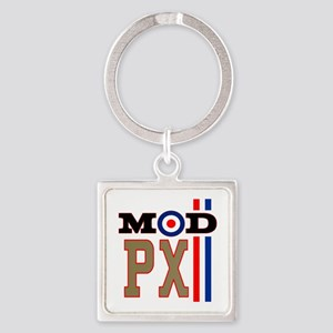 Mod Scooter Px Square Keychain Keychains