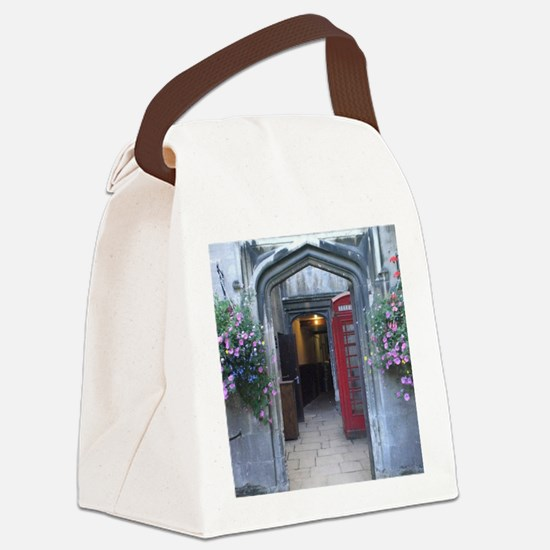 Cute Phone booth Canvas Lunch Bag