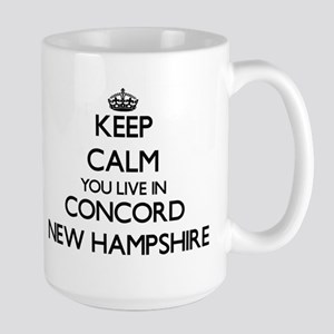 Keep calm you live in Concord New Hampshire Mugs
