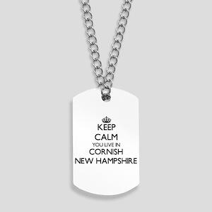 Keep calm you live in Cornish New Hampshi Dog Tags