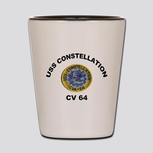 USS Constellation CV-64 Shot Glass