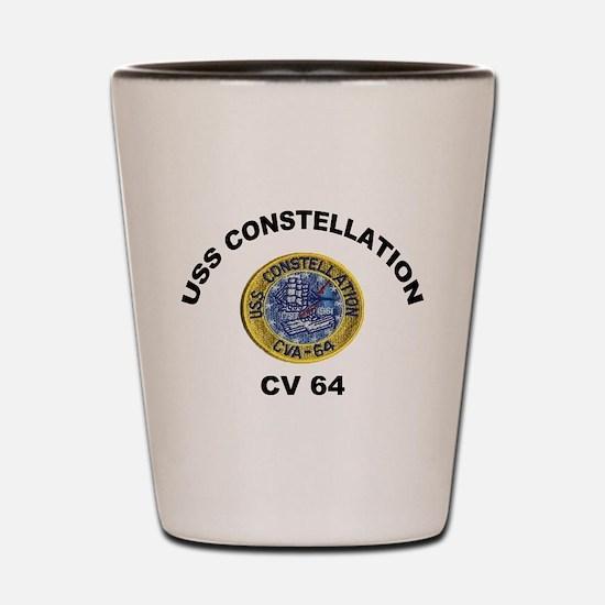 USS Constellation CV-64 Shot Glass