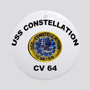 USS Constellation CV-64 Ornament (Round)