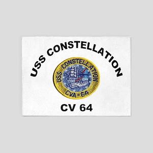 USS Constellation CV-64 5'x7'Area Rug