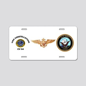 USS Constellation CV-64 Aluminum License Plate