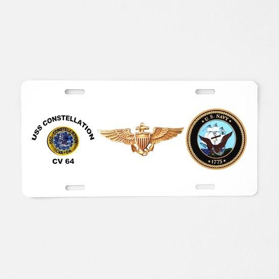 USS Constellation CV-64 Aluminum License Plate