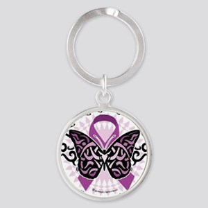 fibromyalgia awareness Round Keychain