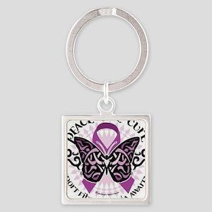 fibromyalgia awareness Square Keychain