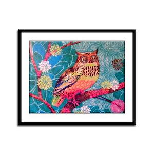 Owl Framed Panel Print