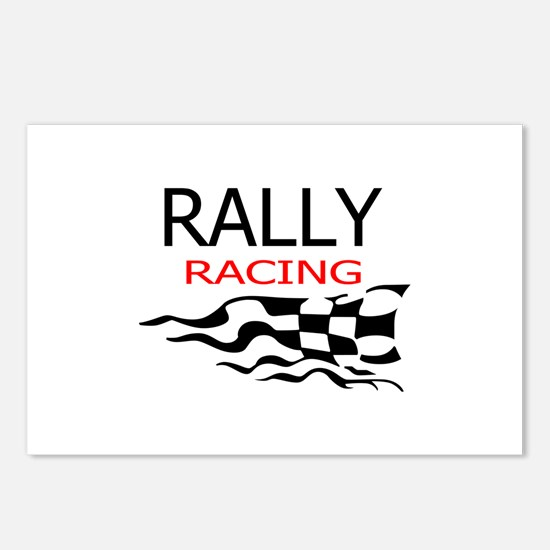 RALLY CAR RACING Postcards (Package of 8)