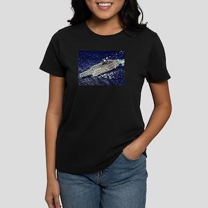 CV 64 Ship's Image Women's Dark T-Shirt
