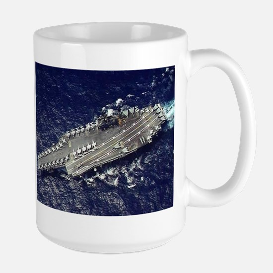 USS Constellation Ship's Image Large Mug