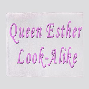 Queen Esther Purim Throw Blanket