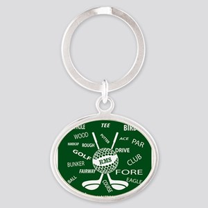 Personalized Monogram Golf Gifts Keychains