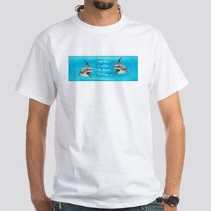 Great White Left Shark ~ White T-Shirt~2 Sides