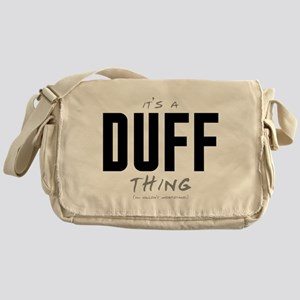 It's a Duff Thing Canvas Messenger Bag