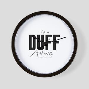It's a Duff Thing Wall Clock