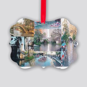 San Antonio Riverwalk-jk Picture Ornament