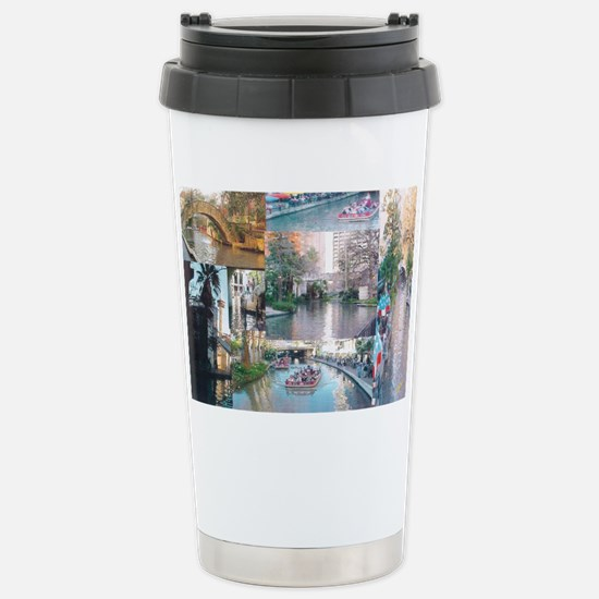 San Antonio Riverwalk-j Stainless Steel Travel Mug