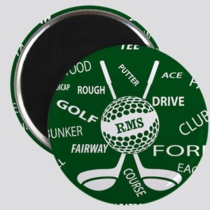 Personalized Monogram Golf Gifts Magnets