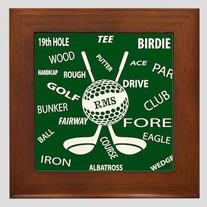 Personalized Monogram Golf Gifts Framed Tile