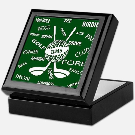 Personalized Monogram Golf Gifts Keepsake Box