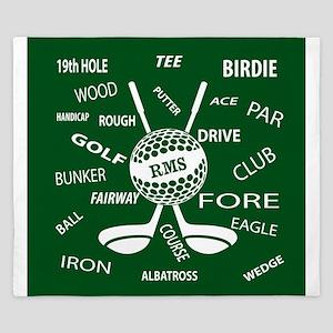 Personalized Monogram Golf Gifts King Duvet