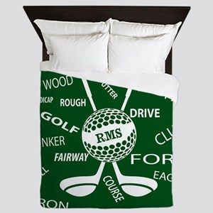 Personalized Monogram Golf Gifts Queen Duvet